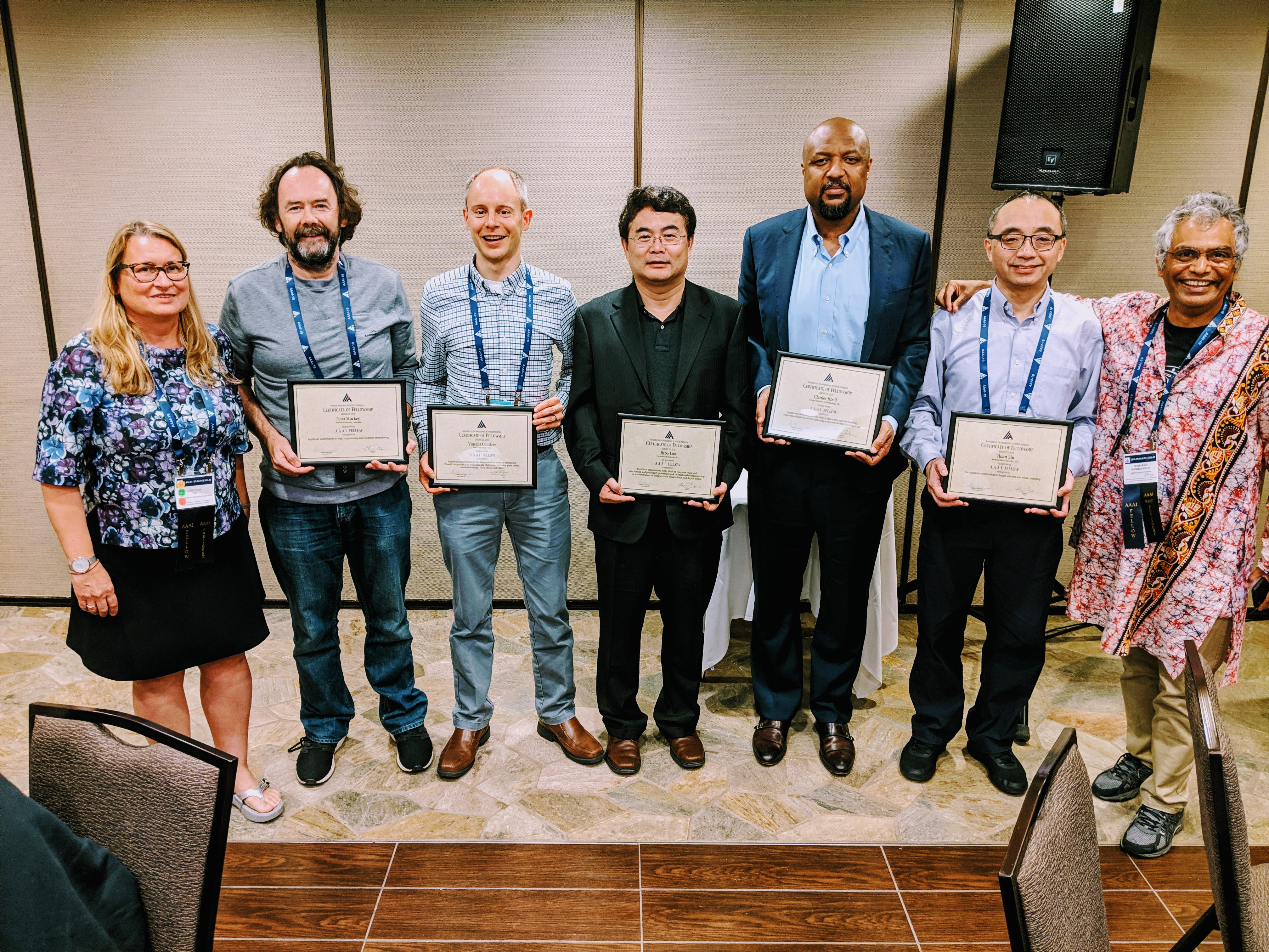 Prof. Luo (center) with other IEEE fellows at the 2019 IEEE Meeting