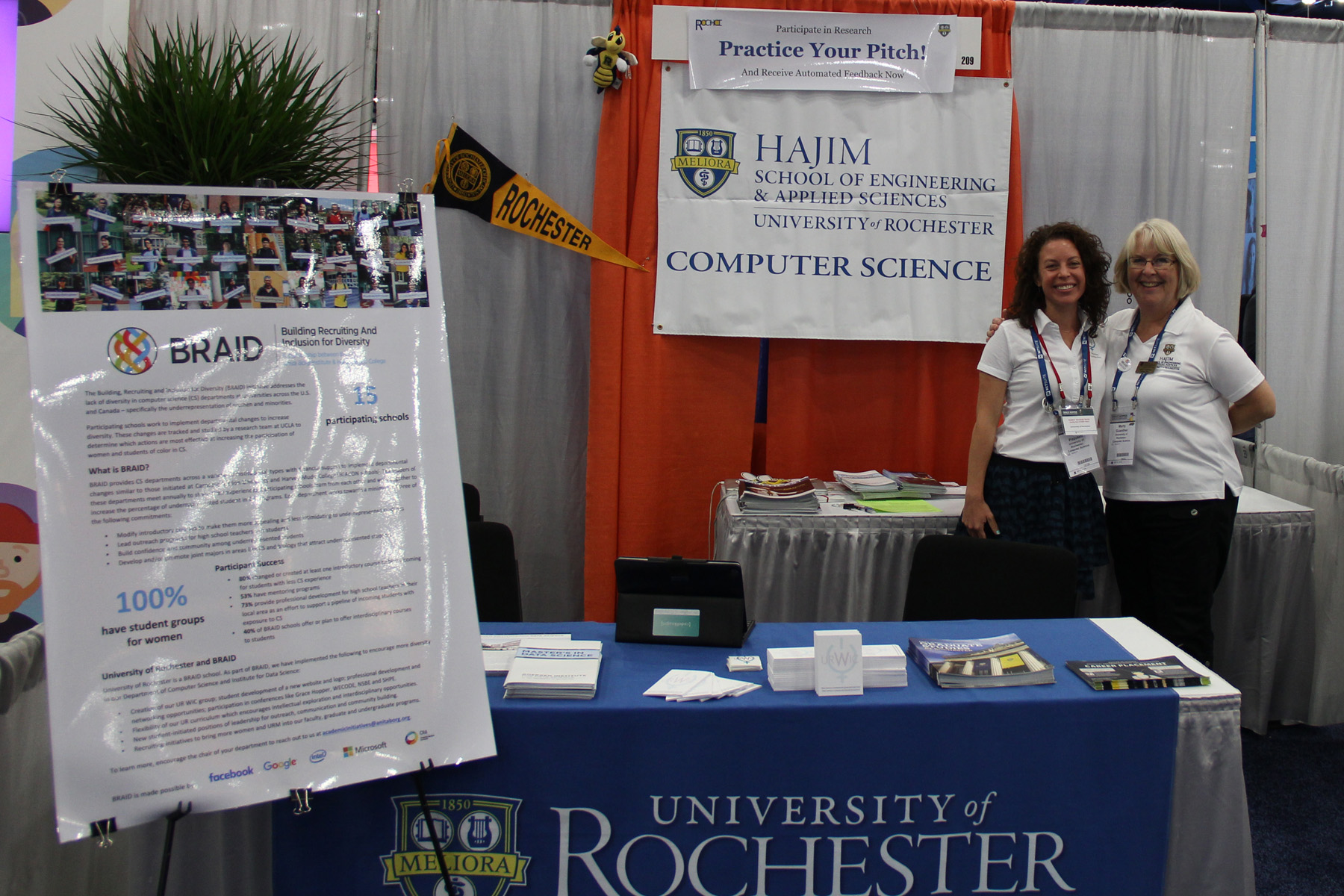 Marty Guenther and Niki Pizzutelli at Career Fair Booth