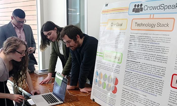 Students at a poster session