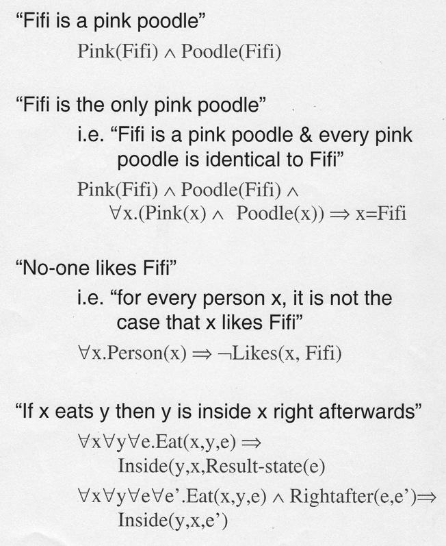 Classical first-order predicate logic.